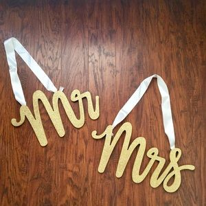 Other - Gold Mr. and Mrs. Signs